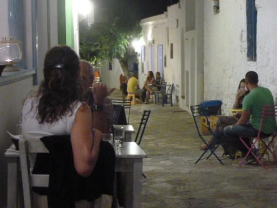 Noche en la calle.
