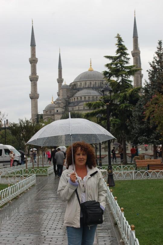 La frecuente lluvia en Estambul.