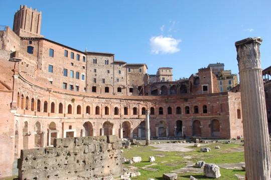 El antiguo mercado de Trajano, un auténtico centro comercial en la Roma antigua.
