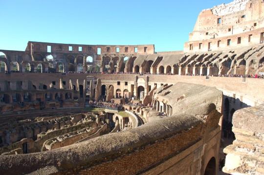 El impresionante interior del Coliseo.