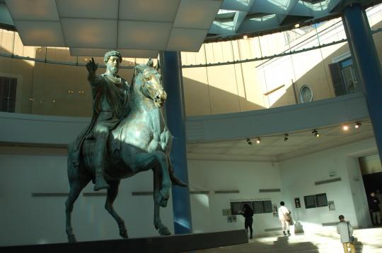 La estatua ecuestre de Marco Aurelio, otra de las joyas del Museo Capitolino.