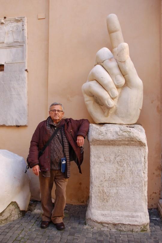 En el patio del Museo Capitolino.