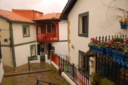 Calles del puerto viejo de Algorta.