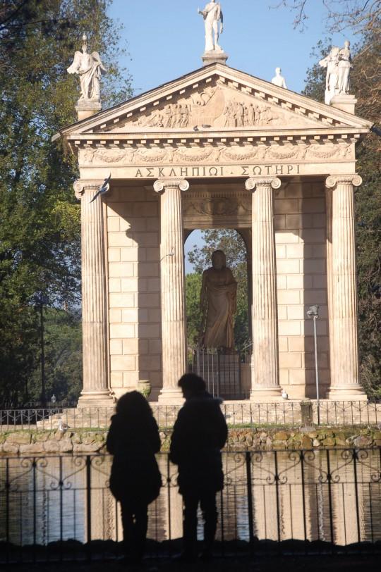 En los jardines de la Villa d'Este romanos.