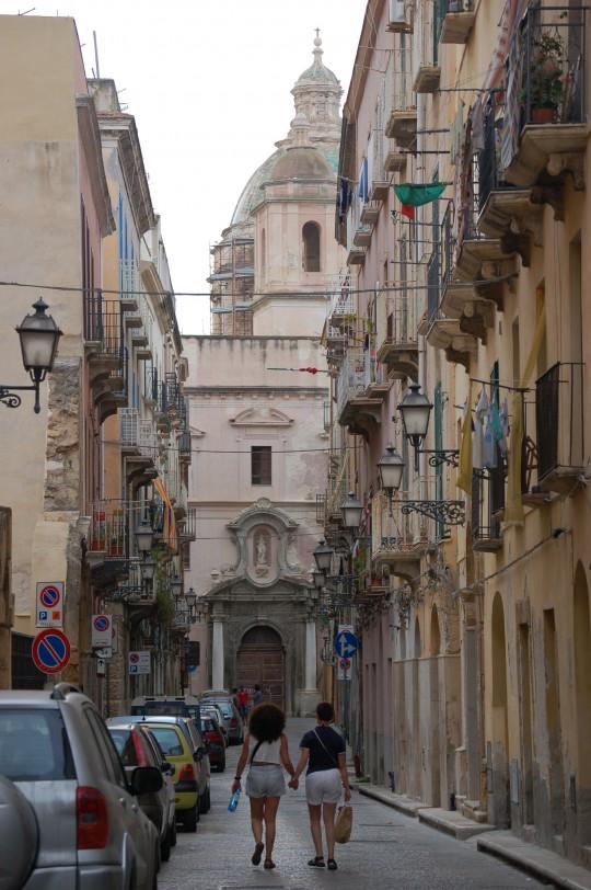 Aires barrocos italianos en la calle.