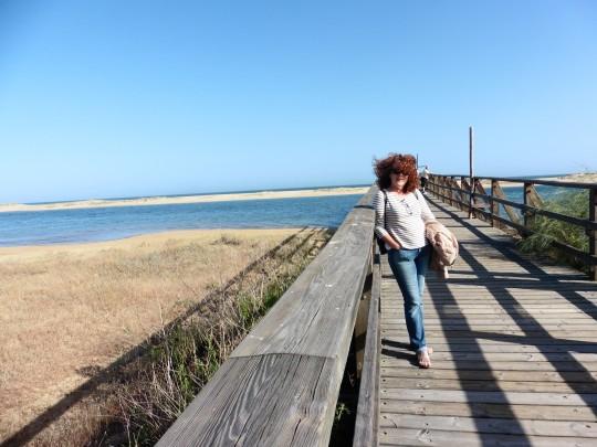 Frente a la playa de Isla Cristina, en la punta del Caimán.