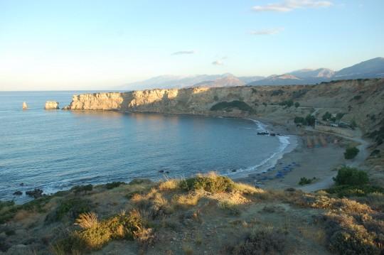 Primera imagen de las playas de Triópetra, aún dormidas...