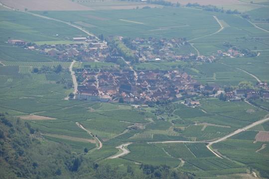 Pueblos y viñas desde el castillo.