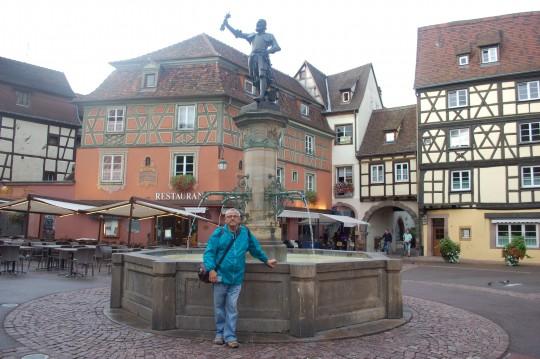 En el centro de Colmar.
