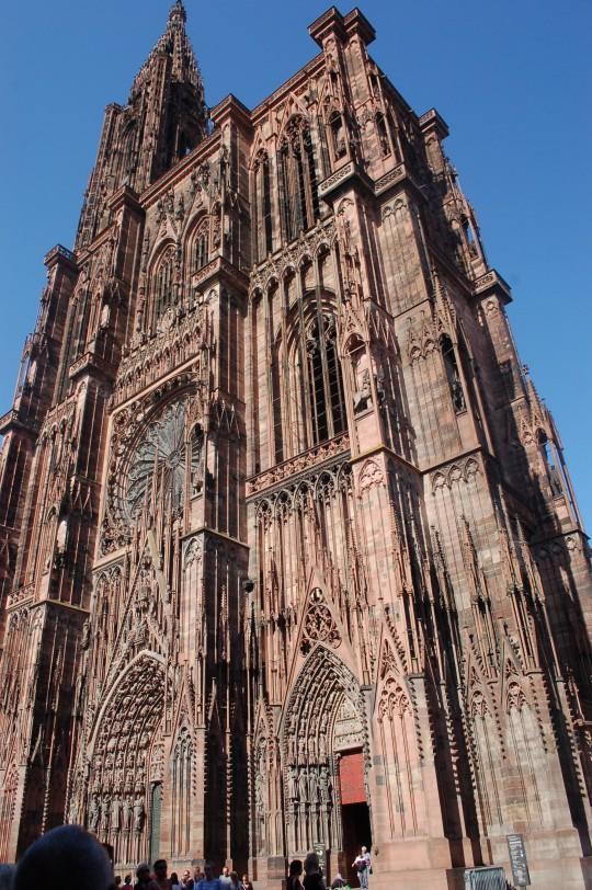 La singular fachada de la Catedral.