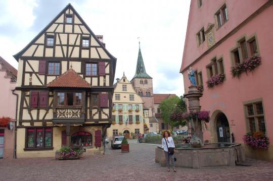 En el interior de Turckheim.