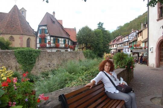 Junto al río en Kaysersberg.