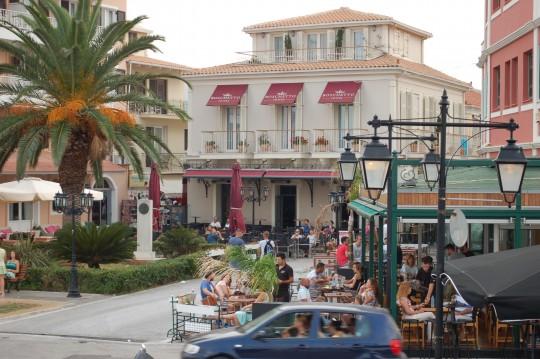 El Hotel Boschetto, nuestra parada en Lefkada capital.