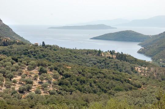 Característico paisaje jónico en el sur de Lefkada.