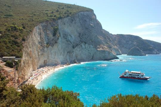 La playa de Porto Katziki, en la isla de Lefkada.