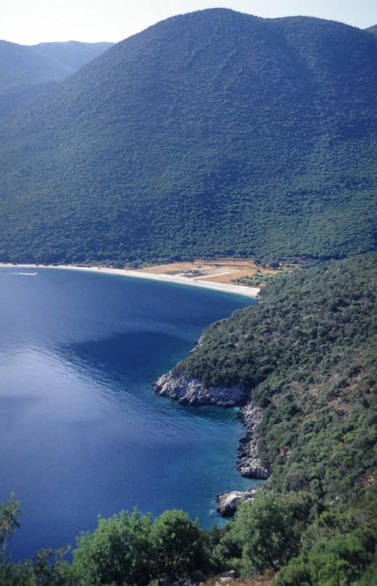 La misma playa, en 2001.