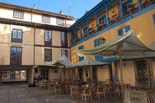 Patio interior de la plaza del Fontán.