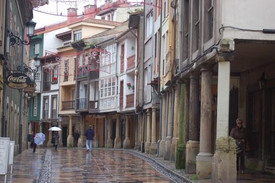 La calle Rivero de Avilés