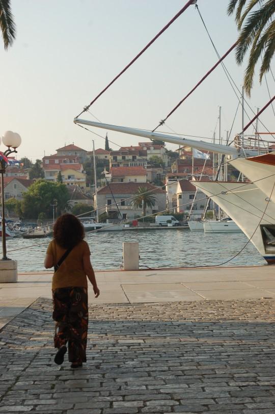 Saliendo al puerto de Trogir.
