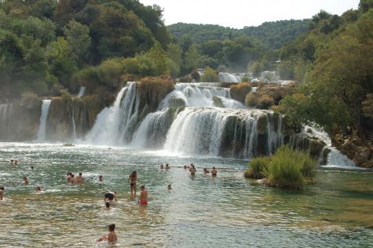 La cascada de Skradin, en el parque nacional Krka.