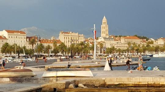 La luminosa Split, frente al Adriático.