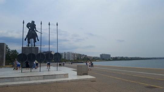 La estatua de Alejandro el Grande, también en el paseo marítimo de Salónica.