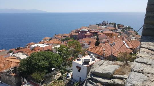 Vista de los tejados de Panagia, desde el castillo.