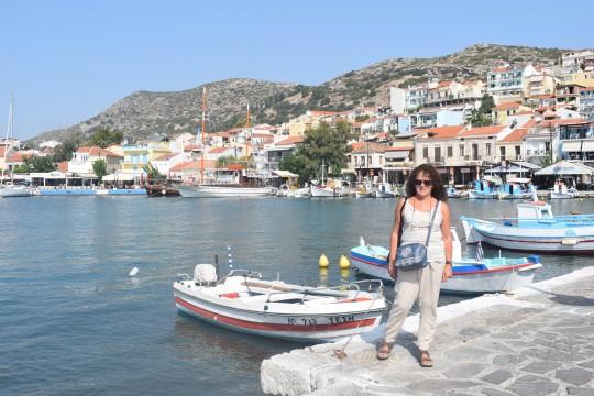 El puerto de Pythagorion, en una mañana de septiembre.