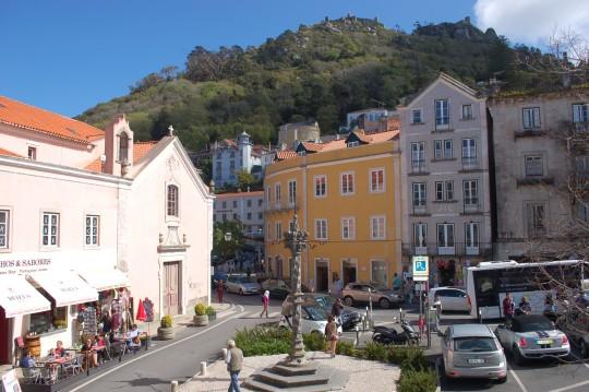 La plaza principal de Sintra.