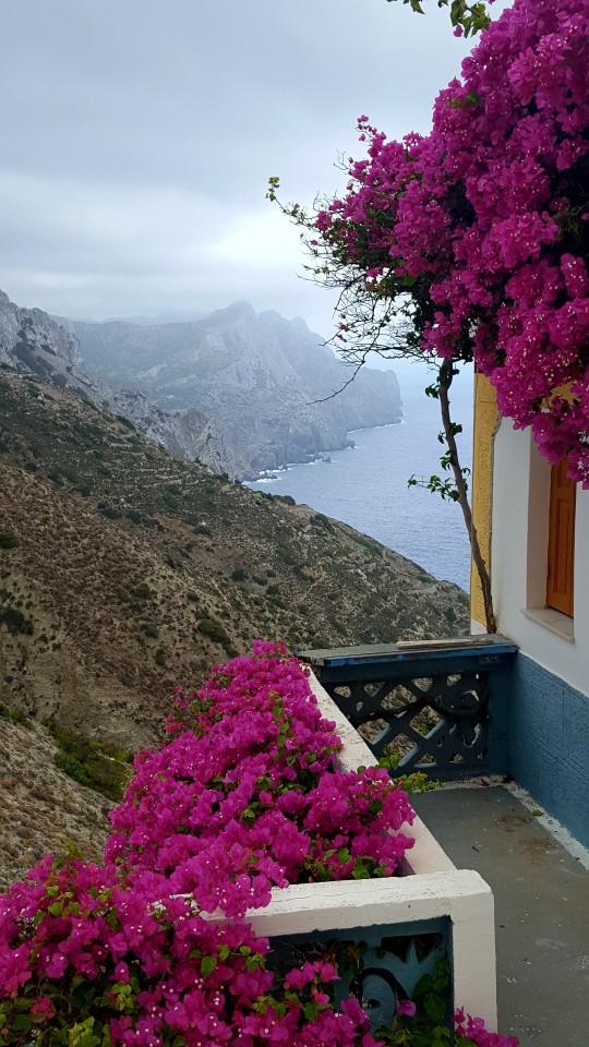 Balcón al mar en Olimpos.