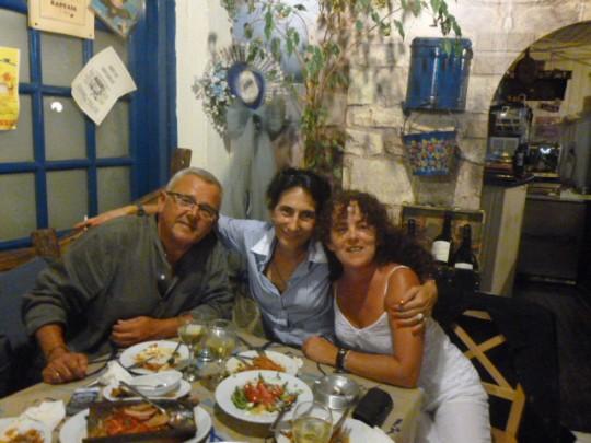 Una cena inolvidable con Margarita en Atenas.