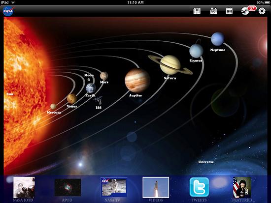 App de la NASA para el iPad