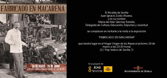Invitación Exposición Fabricado en Macarena