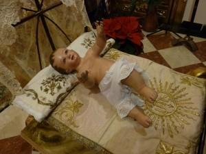 El Santo Niño del Rosario, en Navidad.