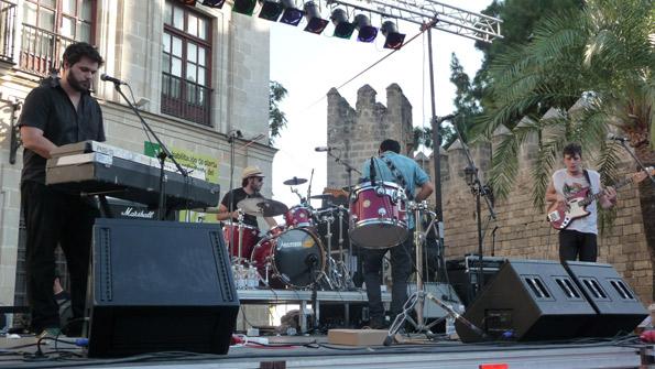 Pony Bravo, durante su concierto en el Monkey Week.