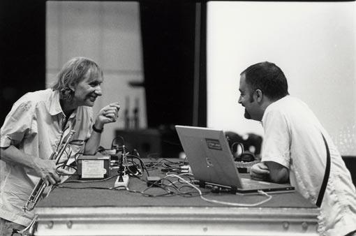 Erik Truffaz, a la izquierda, junto al mexicano Murcof.