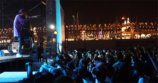 Tote, durante un concierto en la Feria de Málaga. / Foto: Paco Maese