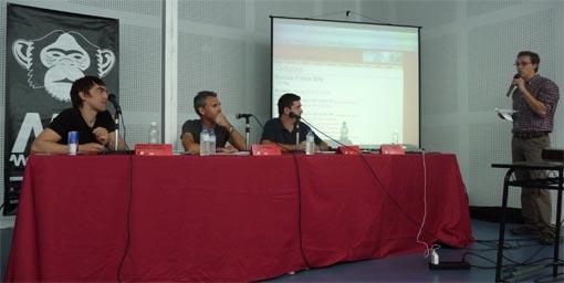 De izquierda a derecha, Barnaby Harrod, Álvaro Rebollo, Rafa López y Ventura Barba.