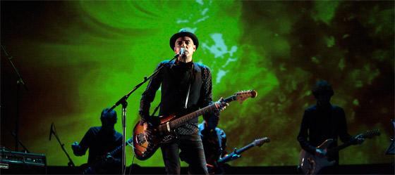 Antonio Arias, durante un concierto el pasado mes de octubre. / Lucía Rivas