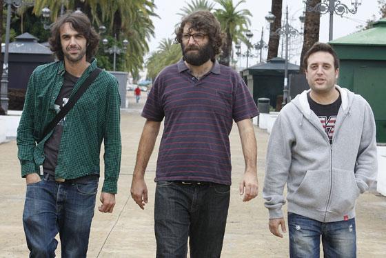 Los hermanos Guisado, César y Jesús, y Tali Carreto. / Andrés Mora