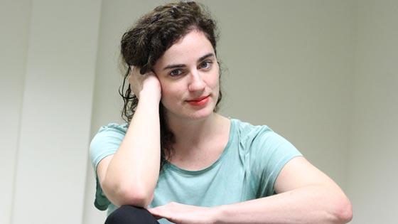 Marina Gallardo, poco después de esta entrevista. / Foto: Belén Vargas
