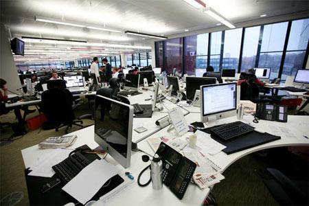 El nuevo 'newsdesk' de 'The Guardian'.